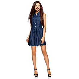 oodji Ultra Women's Button-Up Denim Dress
