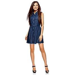 Women's Button-Up Denim Dress