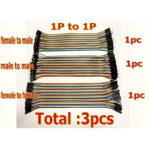 RioRand 3 x 40Pin 20cm Dupont Wire Jumper Cables 2.54 1P-1P Male-Male/Female-Female/Female-Male