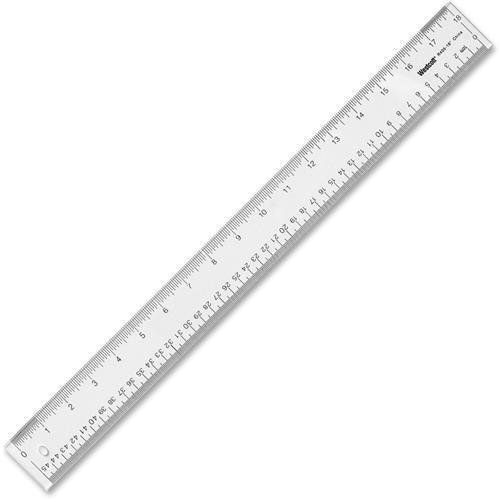 Imperial Metric Measuring System Acrylic - 10564 Westcott See-through Ruler - 18