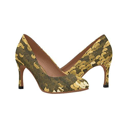 InterestPrint Womens Fashion High Heel Dress Pump Shoes Multi 6 2HO9bD