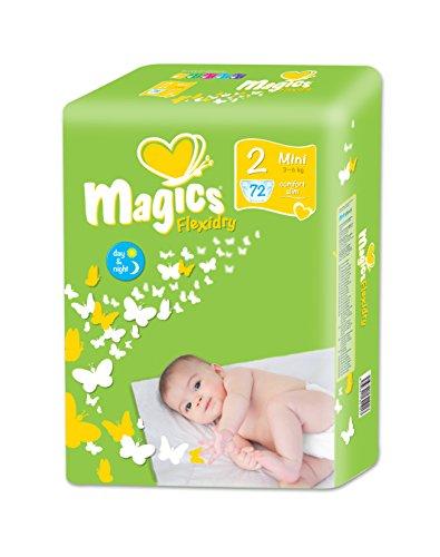 babies best Magics Flexidry Windeln, Monatspackung, Größe 2 (Mini), 3-6 kg, 3er Pack (3 x 72 Windeln)