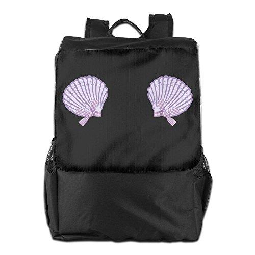 Igloo Girl Costume (ZHONGRANINC Vintage Mermaid Seashell Bra Violet 2 Convenient Outdoor Men And Women Travel Backpack Travel Knapsack)