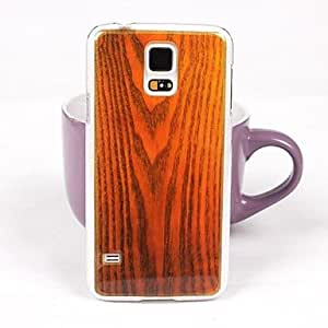 TOPMM Beautiful Wood Pattern PC Back Case for Samsung S5/I9600