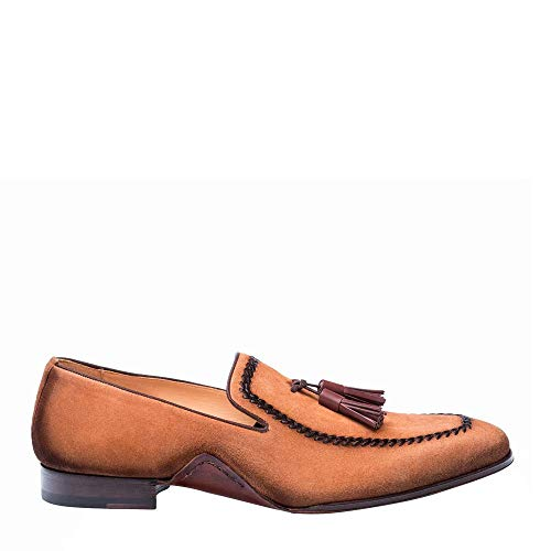 Mezlan Plazza Mens Luxury Italian Loafers – Rich Antiquated Suede Shoes with Leather Sole – Handcrafted in Spain…