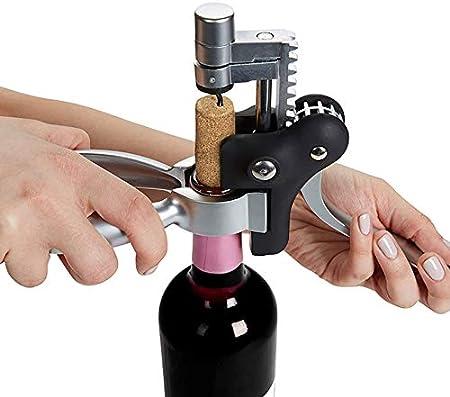 HWY Sacacorchos Vino Sacacorchos Boj Rojo Abridor De Vino Acero Inoxidable Extrae El Tapón De La Botella De Vino