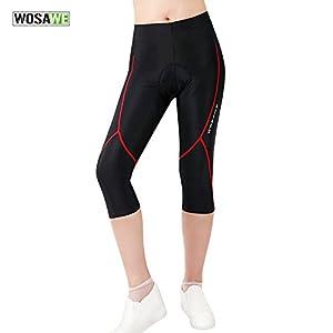 WOSAWE Maglia da Ciclismo a Maniche Corte e Pantaloncini Imbottiti in Gel 4D, Abbigliamento Sportivo da Donna per MTB…