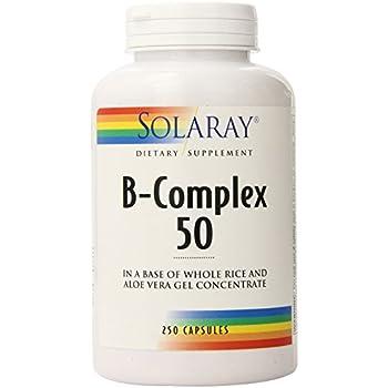 Solaray B-Complex 50 -- 250 Capsules