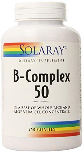 Solaray B-Complex 50 — 250 Capsules