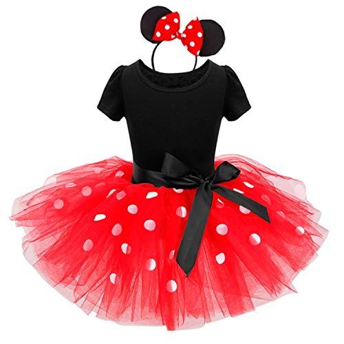 TTYAOVO Baby Meisjes Polka Dots Prinses Pagant Party Tutu Jurk Outfits met Hoofdband