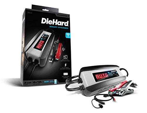 DieHard 30485 Compact WIFI Smart Battery Charger Maintainer 612 Volt 3 Amp