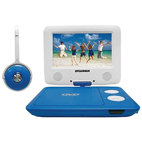 Sylvania SDVD7043-BLWHT 7-Inch Portable DVD Player with Matc