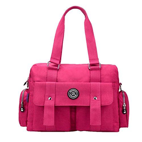 Sweetmeet Bolso al hombro para mujer, color rojo, talla Rojo - Rosa/Rojo