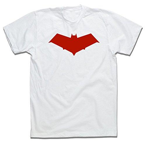 - Red Hood DC Comics Superhero TEE Jason Todd T Shirt (S, White)