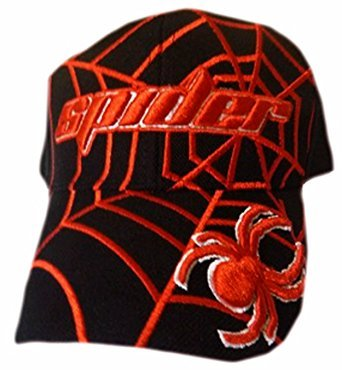 Spiderman Boys Baseball Cap Spider-Web Hat (Red Black)