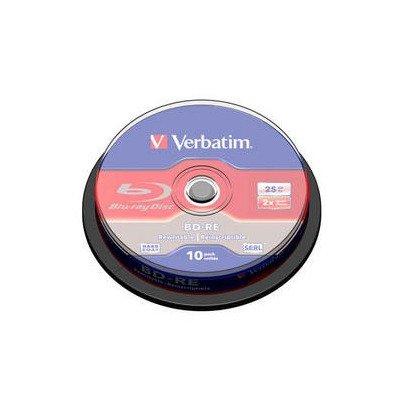 2NF7667 - Verbatim 43694 Blu-ray Rewritable Media - BD-RE - 2x - 25 GB - 10 Pack Spindle