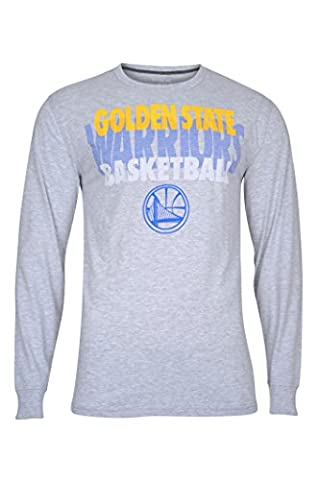 NBA Men's Golden State Warriors Supreme Team Logo Crew Neck Long Sleeve T-Shirt, X-Large, Heather - Basketball Jerseys Heather
