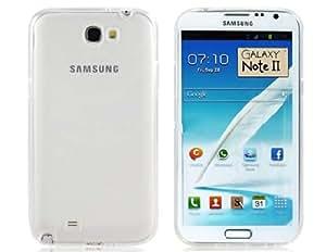 Caso de goma de TPU para Samsung Galaxy Note N7100 2 (transparente)
