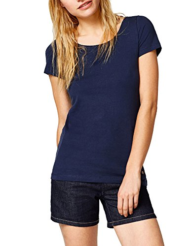 Esprit Women's Fitted T-Shirt Navy in Size L Esprit Womens Tee