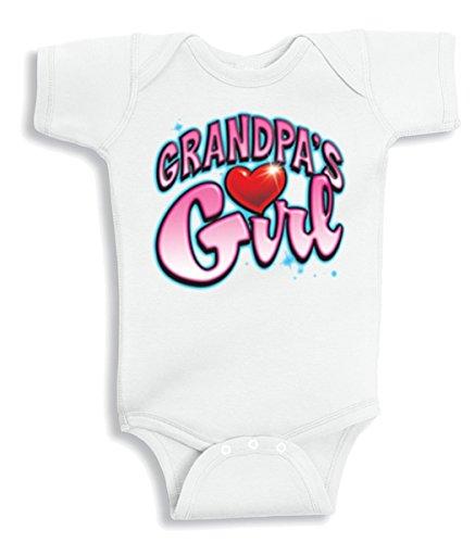 Lil Shirts Grandpa's Girl Baby Bodysuit