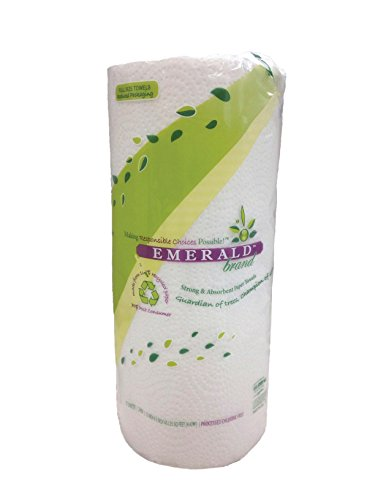 Crafts Paper Towel Rolls - Emerald 100% Recycled Household Paper Towel, 70 Sheets, 30-Count