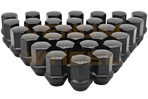 Venum wheel accessories 2012-2019 Ram 1500 Black OEM Factory Style Black Lug Nuts M14x1.5 W/ 22MM Hex Close End 1.5'' Tall 5x5.5 New Model Ram 1500 Made in USA by Venum wheel accessories (Image #3)