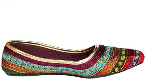 - StepIndia Designer Ethnic Rajasthani Jaipuri Embroidery Work Sandal Slipper Jutti Mojari Chappal for Women and Girls