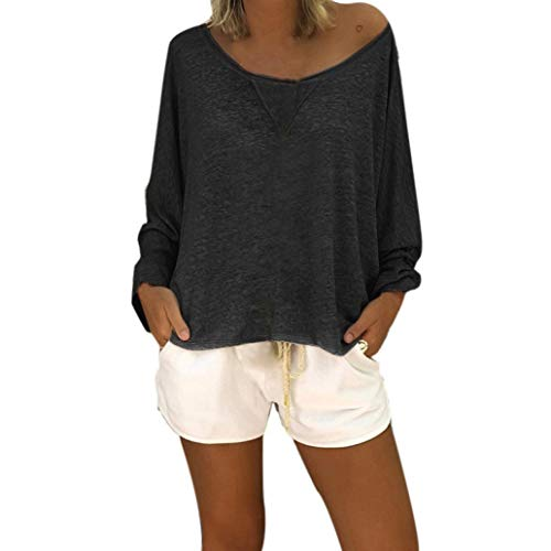 Clearance Sale! Spbamboo Women Blouse Casual O-neck Tops Long Sleeve T Shirt Tee by Spbamboo