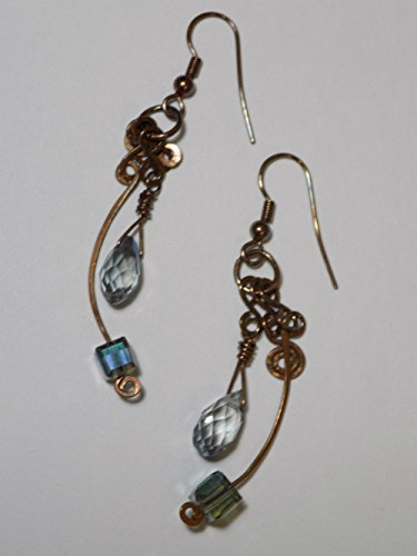 Curves & Swirls Copper Earrings (Copper Curve)
