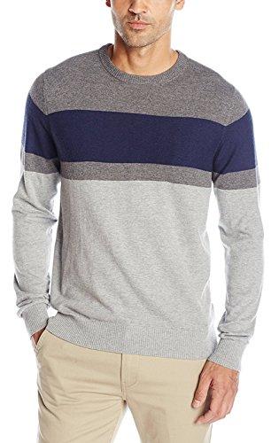 IZOD Men's Fine Gauge Crew Sweater, Light Grey Heather, 2X-Large