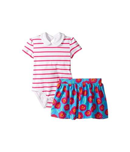 Kate Spade New York Girls' Jess Stripe Skirt Set, Tangier Floral 24 -