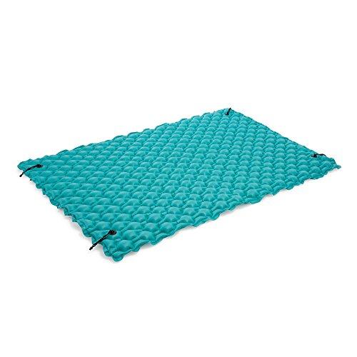 oldzon Inflatable Giant 9.5' Swimming PoolFloating Raft Mat Water Lake Mat Platform Pad With (Float Platform)