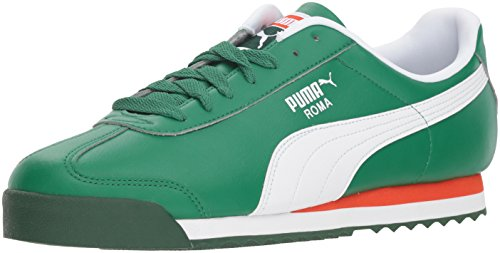 PUMA Men's Roma Basic Sneaker, Verdant Green White, 10 M US