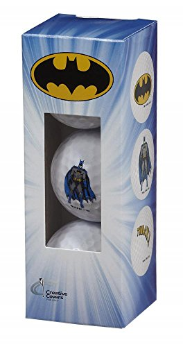 Creative Covers for Golf Unisexbatman 3Pc Golf Ball Assortment, White