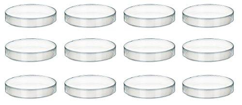 100 x 11mm Plastic Petri Dish - Polypropylene - Pack of 12