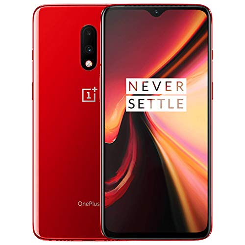 OnePlus 7 GM1900 256GB, 6.41 inches, Dual SIM, 8GB, Dual Main Camera 48MP+5MP, GSM Unlocked International Model, No Warranty (Red)