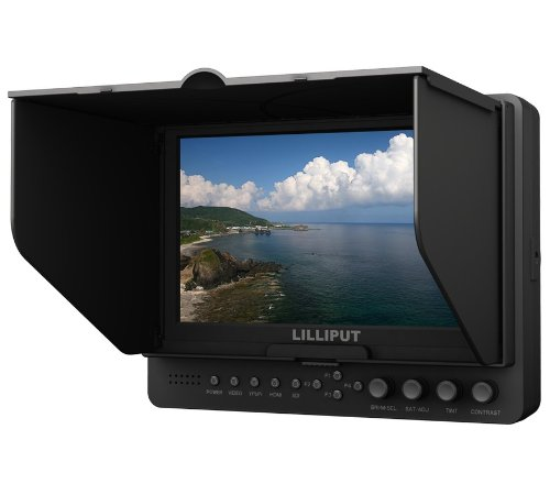 Lilliput 665gl-70np/h/y 7'' On-camera Hd LCD Field Monitor w/ Hdmi in & Component in Video in Video Out +1/4'' HOT Shoe Mount+pisen Du21 Battery and Charger By Viviteq Inc by Lilliput