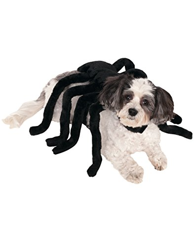 [Rubies Costume Company Pet Spider Harness Costume, Large] (Large Dog Spider Halloween Costume)