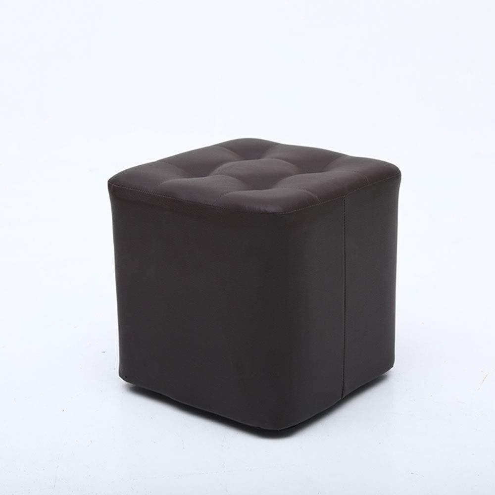 Chambre BOOSC Multi-functio Tabouret Maison Canap/é Tabouret Mode Creative Tabouret en Cuir Salon Adulte Simple en Bois Massif Jet/ée pour Salon Color : Brown, Taille : Haute