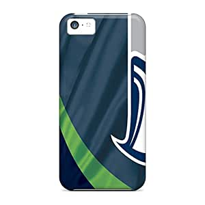 Scratch Resistant Hard Phone Cases For Apple Iphone 5c With Allow Personal Design High Resolution Seattle Seahawks Pattern AshleySimms