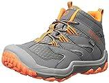 Merrell Boys' Chameleon 7 Mid WTRPF Hiking Shoe Grey/Orange 10.5 Medium US Little Kid
