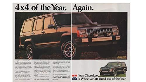 Magazine Print Ad: 1988 Jeep Cherokee,