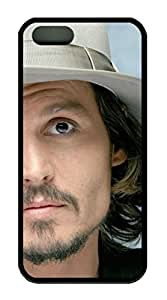 iPhone 5S/5 Case,Black Color,Soft TPU,Protective Case,Soft Case(Case can be customized)Latest style Case,Soft Cover Snap on Case,Ultra-thin Case,Protective iPhone-JohnnyDepp8