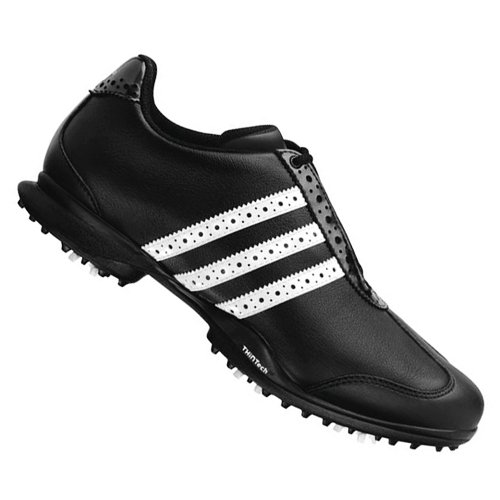 Adidas Lady Driver Val Sport Golf Shoes Black-Black-White Medium 6