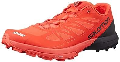 Salomon Unisex S-Lab Sense 6 SG Running Trail Shoes Racing Red/Black/White 4