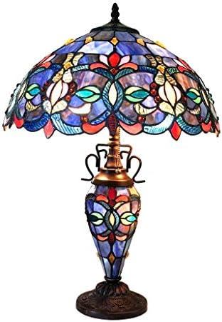 Chloe Tiffany Style Double Lit 2 1-light Dark Bronze Table Lamp