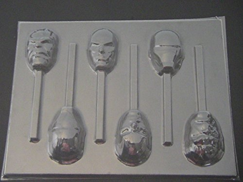 Avenging Heroes Face Chocolate Candy Lollipop Mold Hulk Iron Man Captain America Superhero