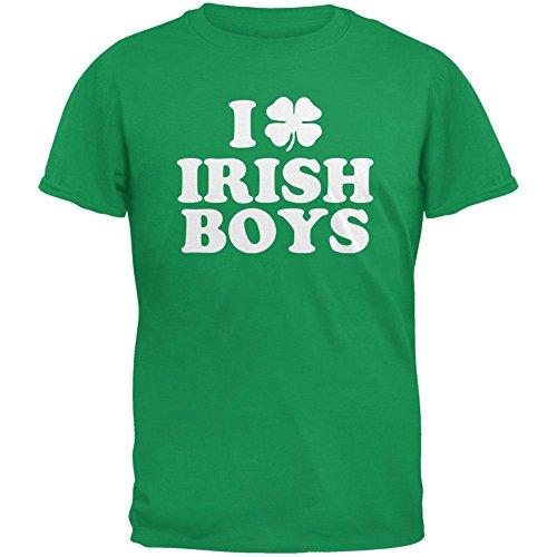 Old Glory I Shamrock Love Irish Boys Green Youth T-Shirt - Youth X-Large (Love Green Boys Irish)