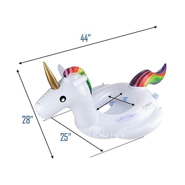 DR.DUDU Giant Unicorn Pool Floats, Adults Ride-On Pool Float Summer Swimming Lounge Raft Toys Inflatable Unicorn 4