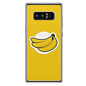 Samsung Note 8 Transparent Edge Phone Case Banana Logo Phone Case Banana Note 8 Cover with Transparent Frame